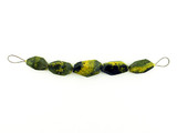 5 Count Black And Yellow Agate Simple Cut Nuggets (Sale)