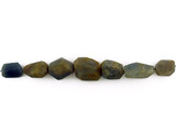 7 Count Varied Sizes Blue Rough Sapphire Simple Cut Nuggets (Sale)