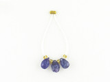 3 Count Varied Sizes Blue Tanzanite Faceted Briolettes