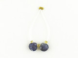 2 Count 7x7mm Blue Tanzanite Faceted Short Pears (Sale)