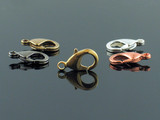 12mm Brass, Copper, Gold Plated, Gun Metal Plated and Silver Plated Lobster Claw Clasp
