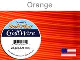 15 Yds 28 Ga Silver Plated Orange Soft Flex Craft Wire (Closeout)