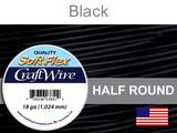 21 Ft 18 Ga Black Soft Flex Craft Wire Half Round (Closeout)
