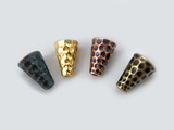 9.25 x 12.5mm Assorted Colors Hammertone Cones for Handcrafted Jewelry Making