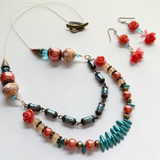 Shades of Coral Bead Strand
