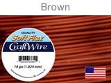 21 Ft 18 Ga Brown Soft Flex Craft Wire (Closeout)
