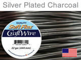 30 Ft 22 Ga Silver Plated Charcoal Soft Flex Craft Wire (Closeout)