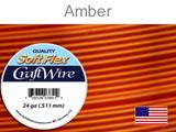 60 Ft 24 Ga Amber Soft Flex Craft Wire (Closeout)