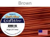 60 Ft 24 Ga Brown Soft Flex Craft Wire (Closeout)