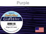 60 Ft 24 Ga Purple Soft Flex Craft Wire (Closeout)