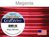 90 Ft 26 Ga Magenta Soft Flex Craft Wire (Closeout)