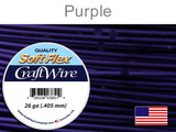 90 Ft 26 Ga Purple Soft Flex Craft Wire (Closeout)