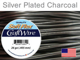 45 Ft 26 Ga Silver Plated Charcoal Soft Flex Craft Wire (Closeout)