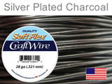 45 Ft 28 Ga Silver Plated Charcoal Soft Flex Craft Wire (Closeout)