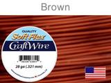 120 Ft 28 Ga Brown Soft Flex Craft Wire (Closeout)