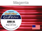 120 Ft 28 Ga Magenta Soft Flex Craft Wire (Closeout)