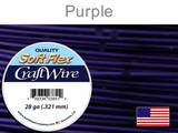 120 Ft 28 Ga Purple Soft Flex Craft Wire (Closeout)