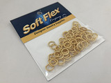 100 Count 8mm Gold Tone Textured Jump Rings - Open (Outlet Sale)