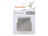 ImpressArt Letter Stamps - Basic Typewriter 3mm font. Uppercase set