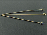 Gold Filled Eye Pins, 2in Length, 20 Gauge (Closeout)