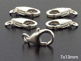 10 Count 7 x 13mm Sterling Silver Lobster Claw Clasp (Closeout)