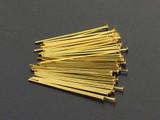 6 Count 22 Ga 1 Inch Brass Head Pins (Closeout)