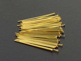 6 Count 22 Ga 1 Inch Brass Head Pins (Closeout)