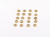 20 Count 4mm Closed Antiqued Brass 21G Jump Rings (Closeout)