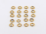 20 Count 6mm Closed Antiqued Brass 21G Jump Rings