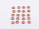 20 Count 4mm Open Antiqued Copper 21G Jump Rings (Closeout)