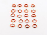 20 Count 6mm Open Antiqued Copper 19G Jump Rings (Closeout)