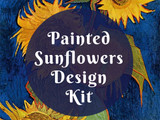 Painted Sunflowers Design Kit