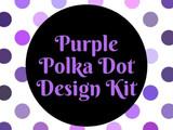 Purple Polka Dot Design Kit
