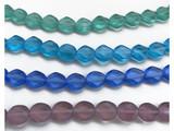 Czech Glass Table Cut Diamond Oval Beads