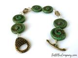 Czech Glass Ammonite Spiral Beads