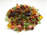 Spice Market Large Czech Glass Bead Mix, Assorted Shapes and Sizes in Fall and Autumn Colors