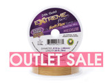 Soft Flex Extreme 30 ft, 24k Gold Plated, .019 Medium Diameter (Outlet Sale)