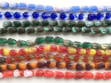Surprise Color Czech Glass Tulip Bead Strands