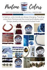 2020 Fall/Winter Pantone Blue Depths Bead Strand (Closeout)