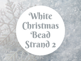 White Christmas Bead Strand 2
