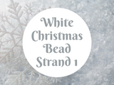 White Christmas Bead Strand 1