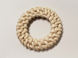 Handmade Rattan Woven Straw Ring Pendant/Connector Jewelry Element - 2pc