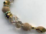 Metallic Sparkles Bead Strand 1 (Gold Sparkles)