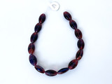 Czech Glass Garnet Oval Beads