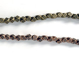 4mm Diamond Cut Faceted Metal Cube Accent Beads