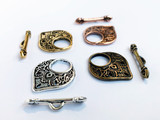 Temple Clasp Toggle and Bar Set for Handcrafted Jewelry Making