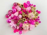 2021 Pantone Raspberry Sorbet Bead Mix