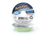 Soft Flex Kink Resistant Knot Tying Hypoallergenic Jewelry Making Wire, 49 Strand Braided Stainless Steel Beading Wire, .019 Medium Diameter, 10 ft Chrysoprase Color Nylon Coating
