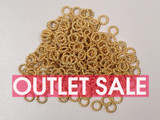6mm Gold Tone Textured Closed Jump Rings 18ga - Approx. 240 Count or 1 oz (Outlet Sale)