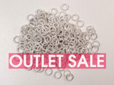 6mm Silver Tone Textured Open Jump Rings 18ga - Approx. 240 Count or 1 oz (Outlet Sale)